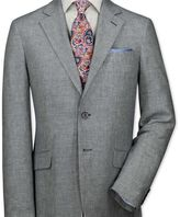 Charles Tyrwhitt Classic fit navy and white linen jacket