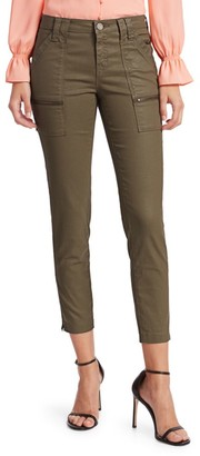 Joie Park Mid-Rise Coated Skinny Pants