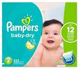 Pampers Baby DryTM 222-Count Size 2 Economy Pack Plus Disposable Diapers