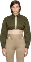 Thumbnail for your product : Dion Lee Green E-Hook Bra Shirt