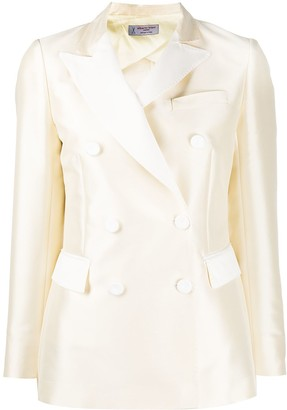 Alberto Biani Textured Double-Breasted Blazer Jacket