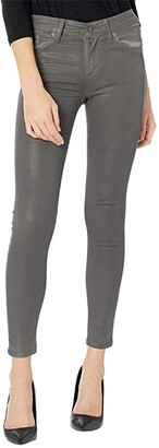 Hudson Nico Mid-Rise Super Skinny in High Shine Dark Slate (High Shine Dark Slate) Women's Jeans