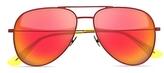 Saint Laurent Surf Mirrored Aviator Sunglasses, 55mm
