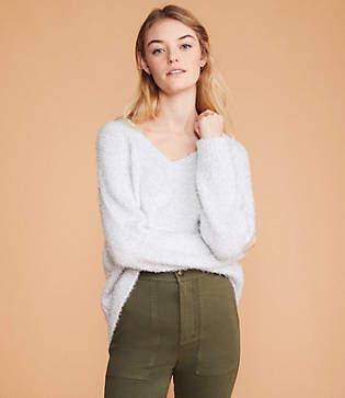 Lou & Grey Frosty V-Neck Sweater