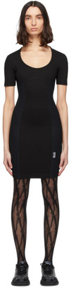 Versace Black Mesh Bodycon Dress