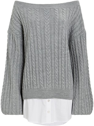 Caroline Constas Gloria Off-The-Shoulder Sweater