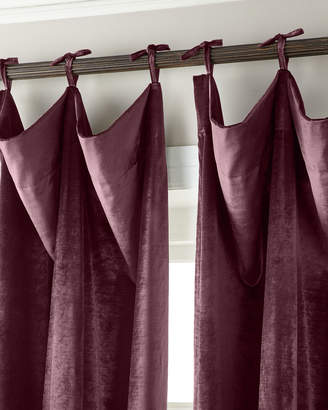 "Thomas Laboratories Misti Modern Luxuries 108""L Tie-Top Velvet Curtain"