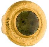 Gurhan 24K Green Tourmaline Amulet Hue Ring