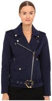Love Moschino Coat with Heart Buckle Women's Coat