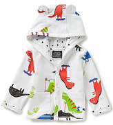 Joules Baby Boys Newborn-12 Months Dinosaur-Print Animal Hooded Jersey Jacket