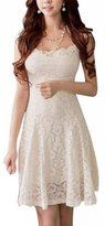 Donalworld Women Lace Short Sleeve Cocktail Evening Bodycon Summer Mini Dress Asia Size S