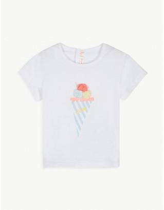 Billieblush Ice cream cotton-blend T-shirt 3-36 months