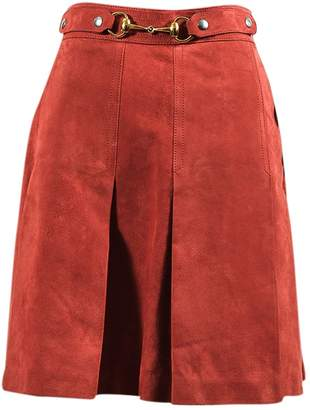 Gucci \N Red Leather Skirts