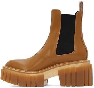 Stella McCartney Tan Emilie Chelsea Boots