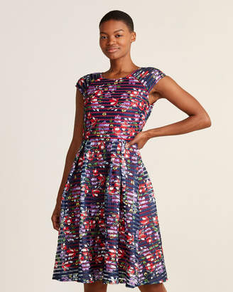 Yumi Spanish Floral Fit & Flare Dress
