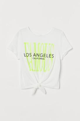 H&M Tie-hem T-shirt