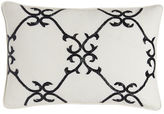 "Sferra Dante 12"" x 18"" Beaded Scrollwork Pillow"