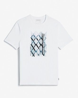 Express Abstract Logo Grid Graphic T-Shirt