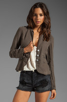 Sanctuary Linen Peplum Jacket