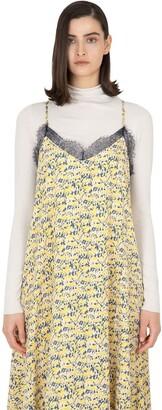 Yellow-Print Strappy Dress