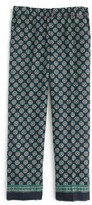J.Crew Women's Foulard Print Silk Pants
