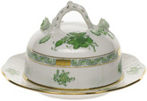 Herend Chinese Bouquet Green Covered Butter Dish