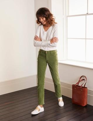 Cord Slim Straight Jeans