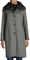 Neiman Marcus Cashmere Coat with Detachable Fur Collar