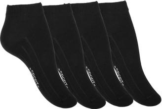 Van Cleef & Arpels 8 Pair Ladies black Sneaker - Ankle Socks with ribbed sole cotton rich (UK 5 5-8 (EU 39/42)