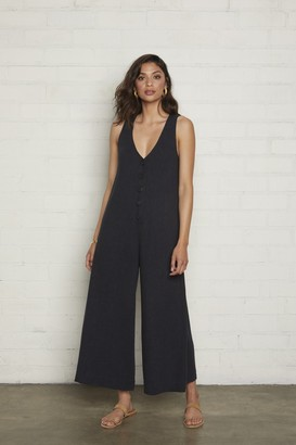 Rachel Pally Linen Button Front Jumpsuit