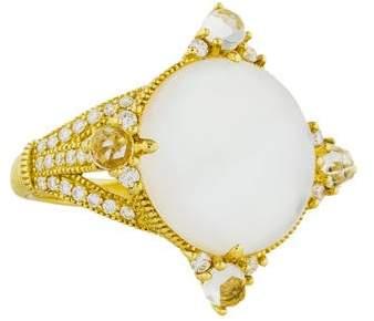 Judith Ripka 18K Mother of Pearl Doublet & Diamond Allure Ring