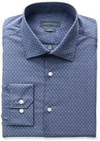 Perry Ellis Collection Men's Slim Fit Diamond Dobby Non-Iron Dress Shirt