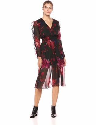 Ali & Jay Women's Endless Love Ruffle Sleeve Floral Midi Dress