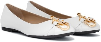 J.W.Anderson Logo leather ballet flats