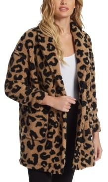 Jessica Simpson Carmen Leopard-Print Coat