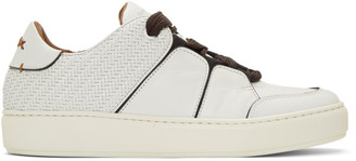 Ermenegildo Zegna White Tiziano Sneakers