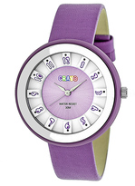 Crayo Lavender & White Leather Celebration Watch