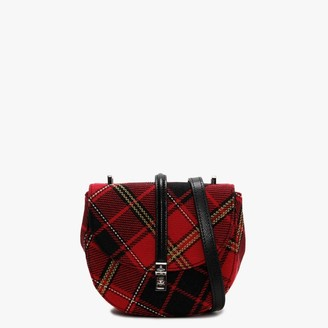 Vivienne Westwood Sofia Red & Black Tartan Textile Saddle Bag