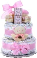 Alder Creek Gifts Girl's Two-Tier Diaper Cake