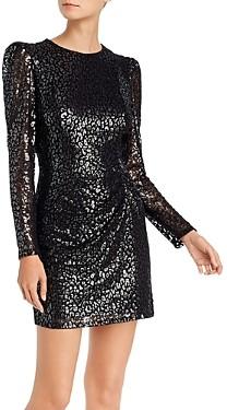 Aqua Metallic Leopard Pattern Dress - 100% Exclusive