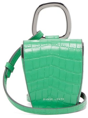 Danse Lente Pablo Crocodile-effect Leather Cross-body Bag - Womens - Green