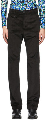 Paco Rabanne Black Corduroy Trousers