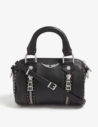 Zadig & Voltaire Nano Sunny studded leather bowling bag