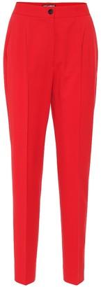 Dolce & Gabbana High-rise stretch-wool pants