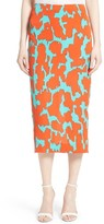 Diane von Furstenberg Women's Tailored Midi Pencil Skirt