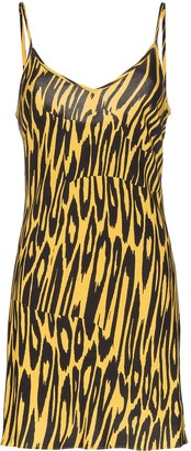 Double Rainbouu tiger print slip dress