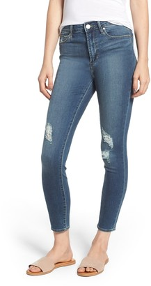 Articles of Society Heather High Rise Ripped Crop Skinny Jeans