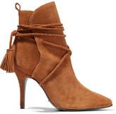 Schutz Fadhila Tasseled Suede Ankle Boots