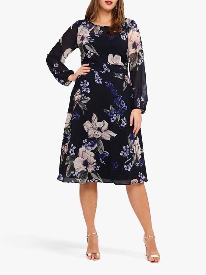 Studio 8 Elise Floral Dress, Navy Multi
