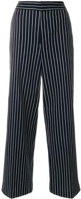 Moncler chalk stripe high waist trousers